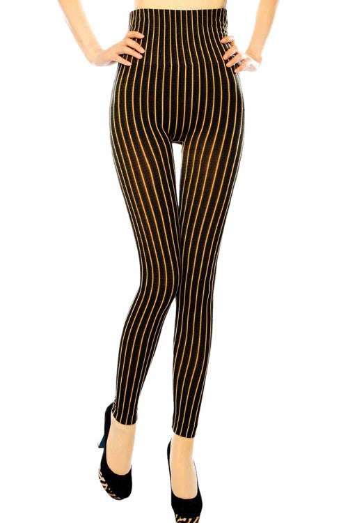 high waist pin stripe legging
