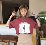 See You Cat Tee - Red