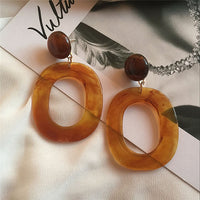 Espresso Resin Acrylic Earrings