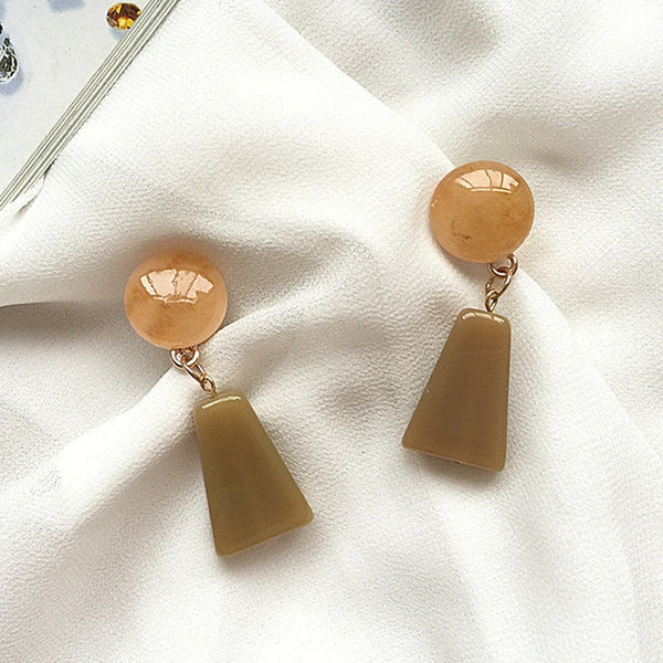 Cleo Resin Acrylic Drop Earrings