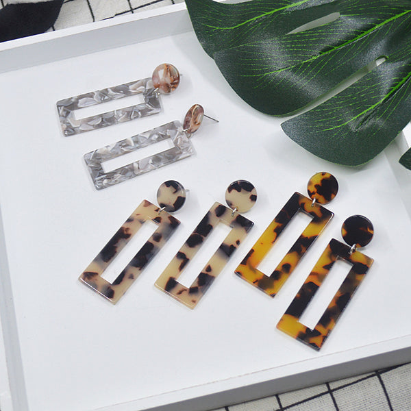 Unique Resin Acrylic Earrings