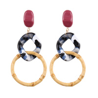 Statement Resin Acrylic Hoop Earrings