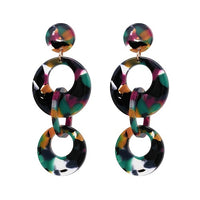 Rika Resin Acrylic Drop Earrings