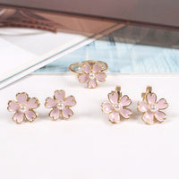 Cherry Blossom Pink Pearl Earrings