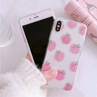 Cute Pastel Fruit Peaches Phone Case For iPhone and Samsung Galaxy