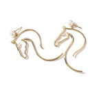 Trojan Gold Horse Earrings