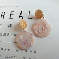 Colorful Resin Acrylic Circle Earrings