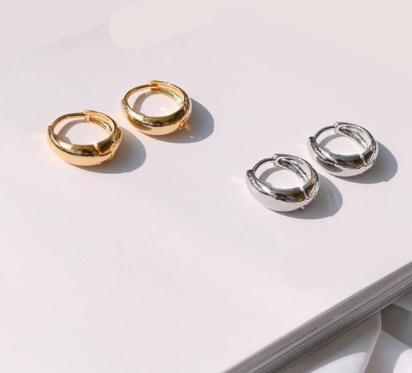 Helen Gold and Silver Hoop Earrings