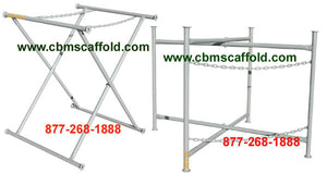 "72"" x 30"" Double Chain Mortar Board Stand (MORTAR72)"