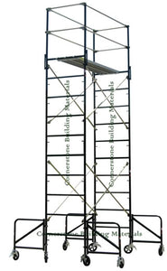 "3'W x 7'L x 14'2""H Scaffold Rolling Ladder Tower w/ Outriggers (3X7X14-2LO)"