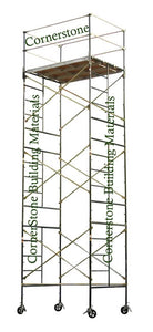 "5'W x 7'L x 20'8""H Scaffold Rolling Tower w/ Opt. Outriggers (5X7X20-8SL/DL/O)"