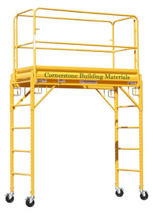 "MFS Scaffolding 29""W x 6'L x 6'H w/ Two-Piece Guard Rails (MFSRYH)"