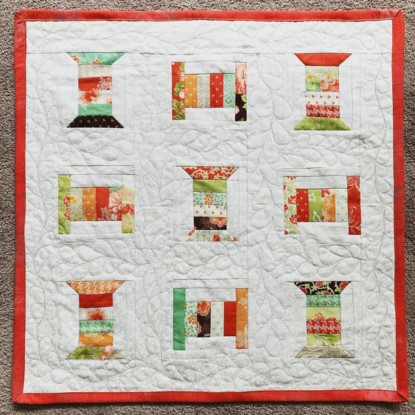 Pattern Review - Moda/Aurifil Mini Charm Spool Wall Hanging