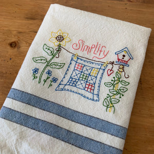 What I Learned When I Embroidered a Tea Towel - Technique Tuesday