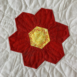 Red Version of the Irish Woodland Quilt