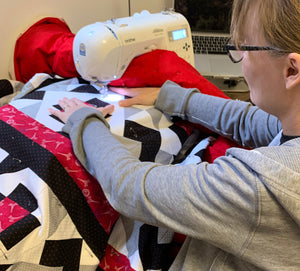 Quilting a Large Quilt on my Domestic Sewing Machine