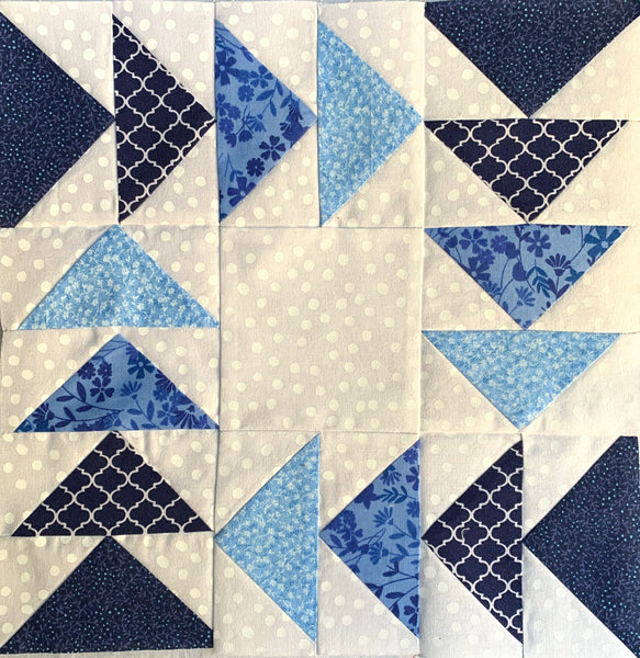 "Free Tutorial - How to Make the ""Flying Around"" Quilt Block"