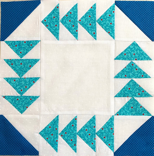 How to make the Fox and Geese Quilt Block