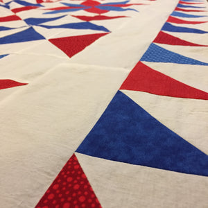 Sneak Peak of Bomb Bursting Quilt
