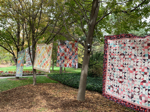 Quilts in the trees