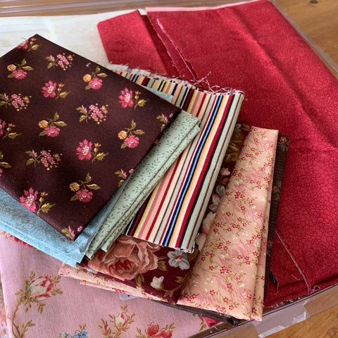 Fabrics for the quilt kit