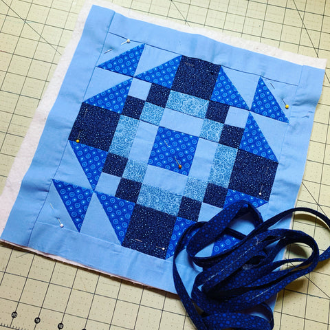 Mini quilt ready to have binding put on