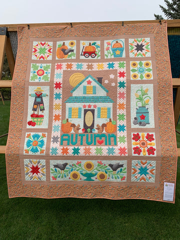 Fall House Quilt