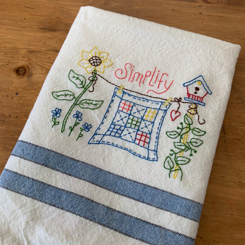 Simplify Tea Towel