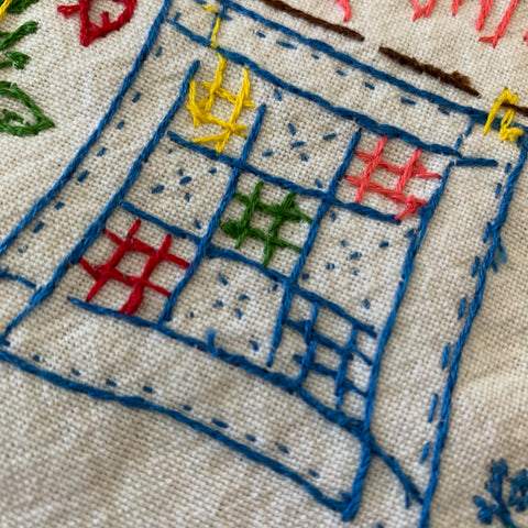 Simplify Tea Towel Embroidery - Back side