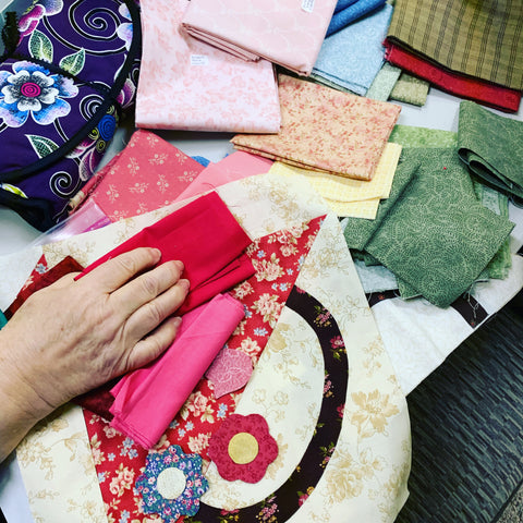 Selecting Fabric for the baskets