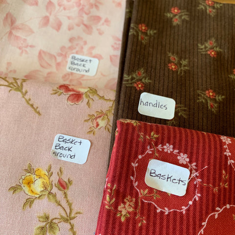 Labeled fabric pieces