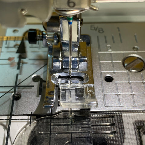 Presser Foot Being Measured