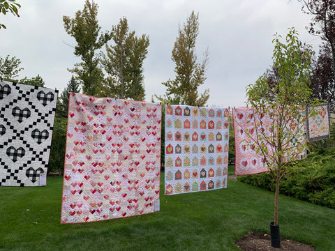 Quilts on a clothes Line