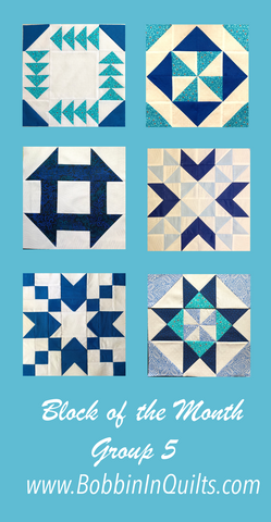 Group #5 of the How-To Quilt Block of the Month