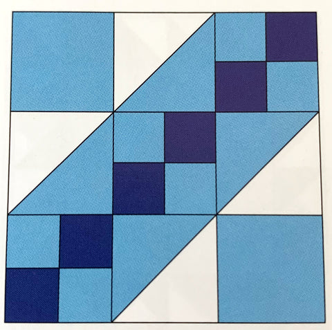 Road to the White House Quilt Block (Jacobs Ladder)
