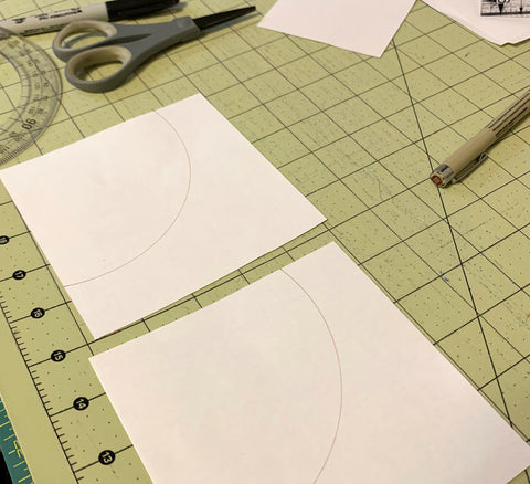 Creating a Template for a Curved Pieced Quilt Block