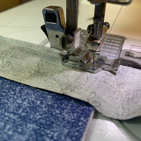 Sew 1/4 inch away from the edge
