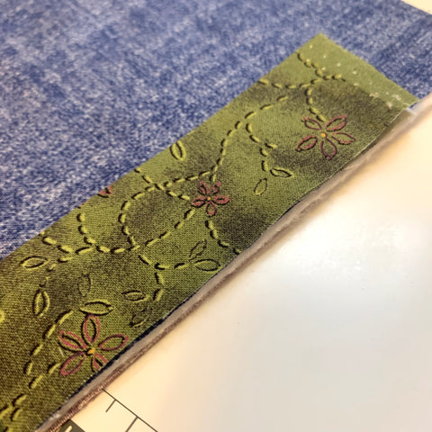 Sewing on Double edged binding
