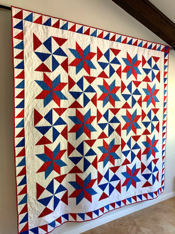 Quilt hanging on the wall