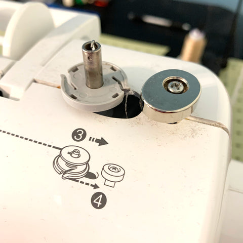 Bobbin Winder on a Brother Innovis 80 sewing machine