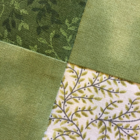Perfectly matched seams on Irish Woodland Quilt