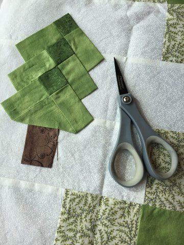 Hand Applique  on the Irish Woodland Quilt