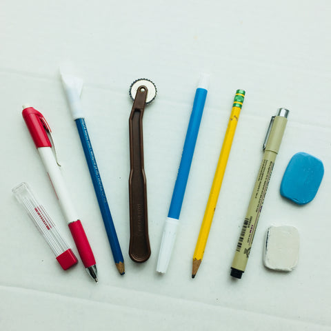 Quilt Marking tools including pencils, pens, and chalk
