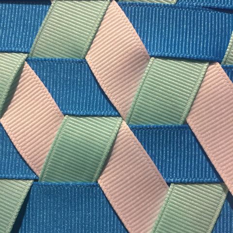 Triple Woven Fabric Sample using grosgrain ribbon