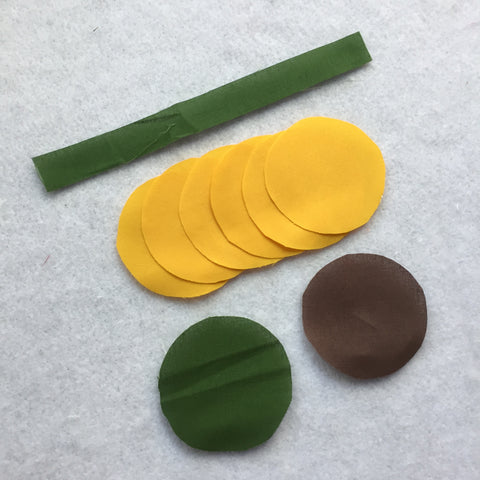 Sunflower pieces