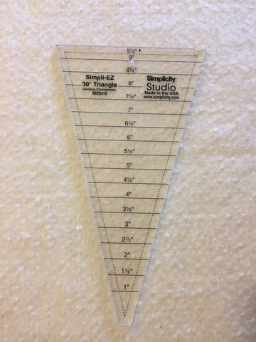 30 degree triangle ruler for quilting and sewing by Simplicity