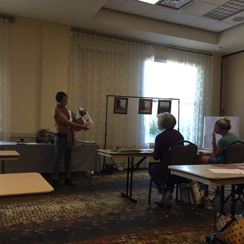Taking a class at Utah Quilt Guild Quilt Fest
