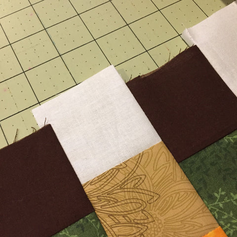 Offset edges of the strips