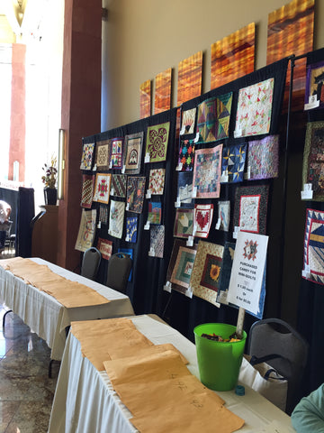 Mini Quilts on display at Utah Quilt Guild Quilt Fest