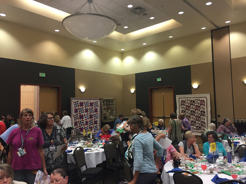 Quilts on Display at Utah Quilt Guild Quilt Fest during the lunch and lecture